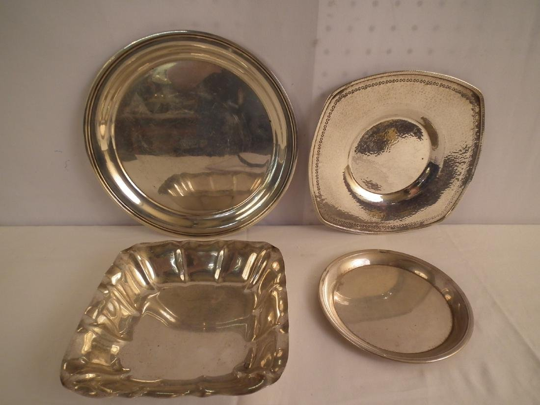 3 STERLING TRAYS & BOWL