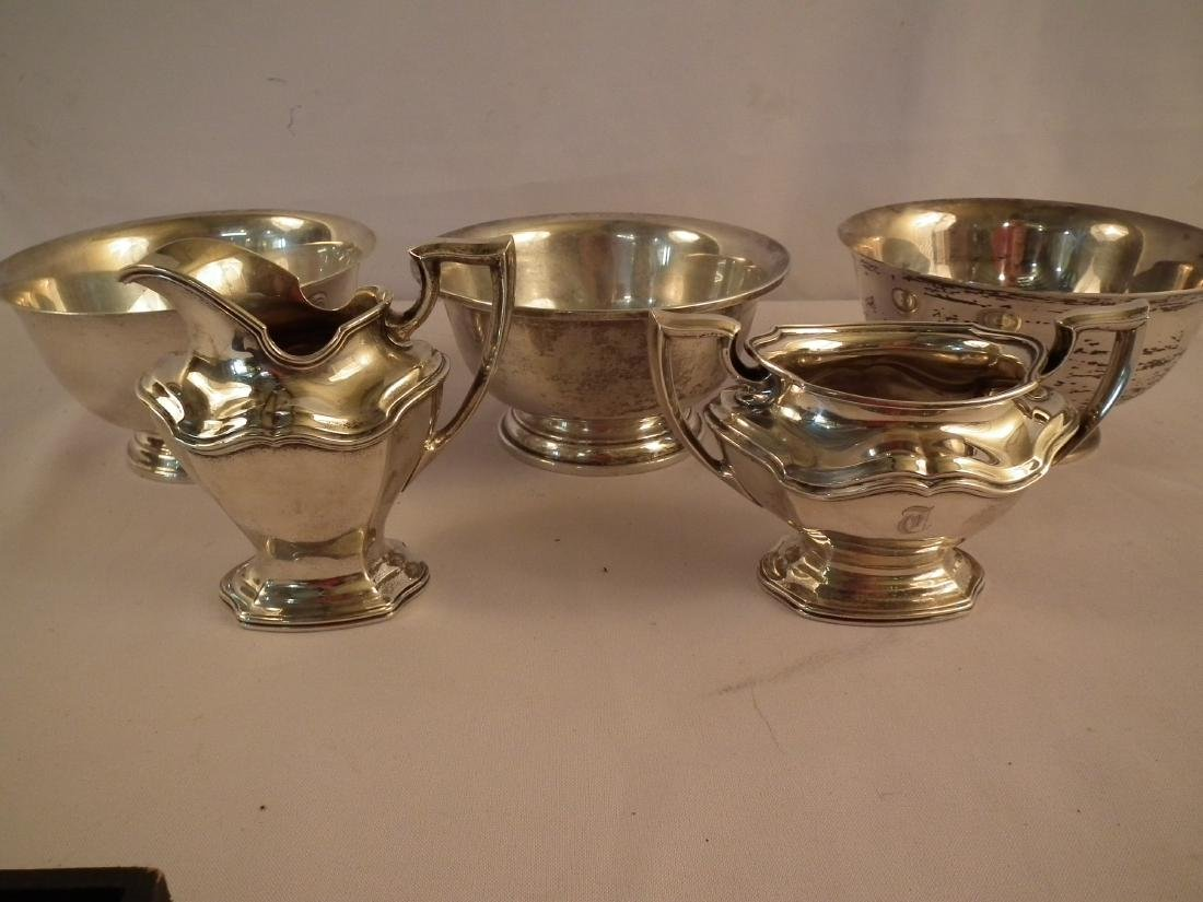 LOT STERLING TABLE WARE