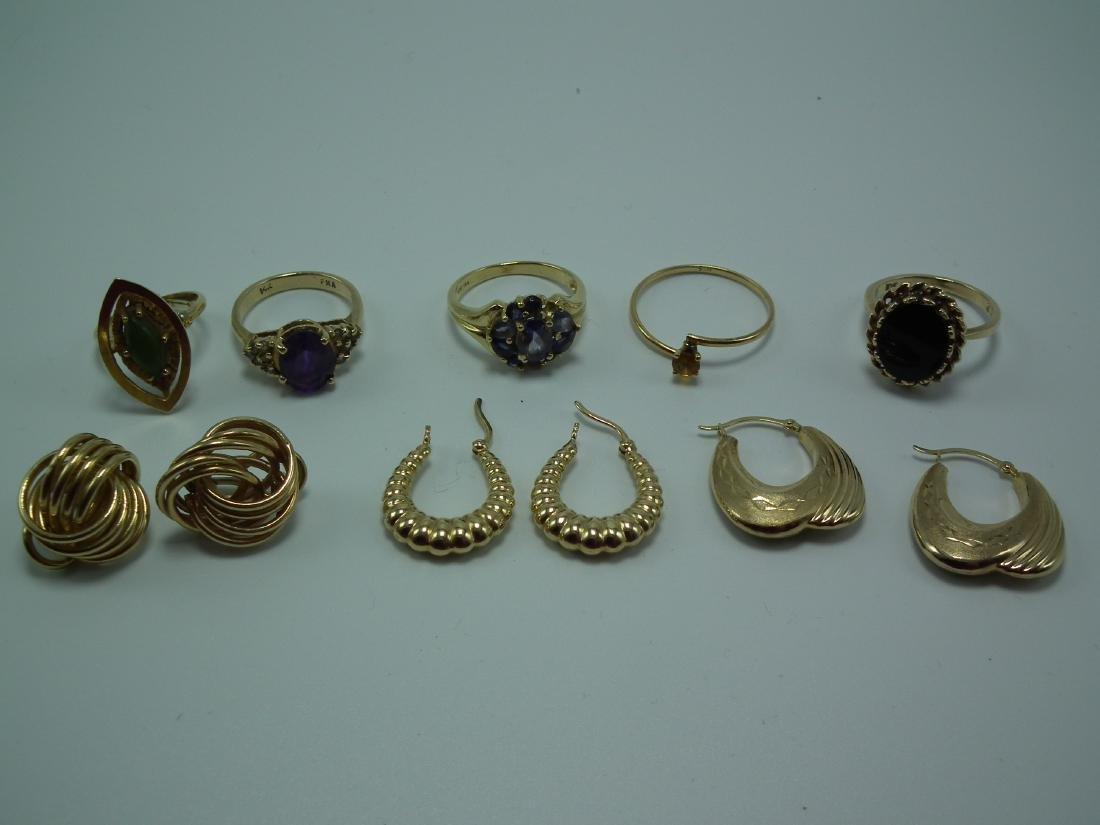 GOLD RINGS & EARRINGS