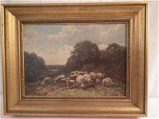 GA HAYS PAINTING SHEEP