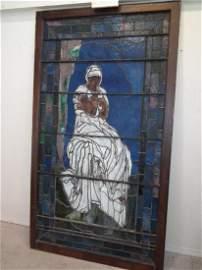 ANTIQUE LEADED WINDOW LADY