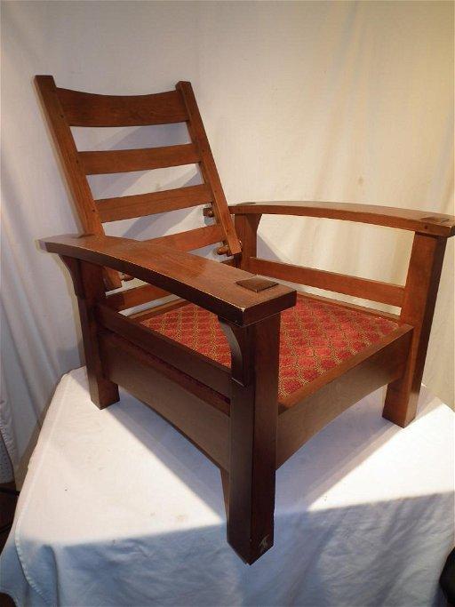 Miraculous Stickley Morris Chair Ottoman Machost Co Dining Chair Design Ideas Machostcouk