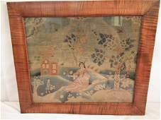 1750 BOSTON NEEDLEWORK PICTURE