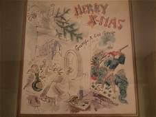 GEORGE GROSZ CHRISTMAS SKETCH