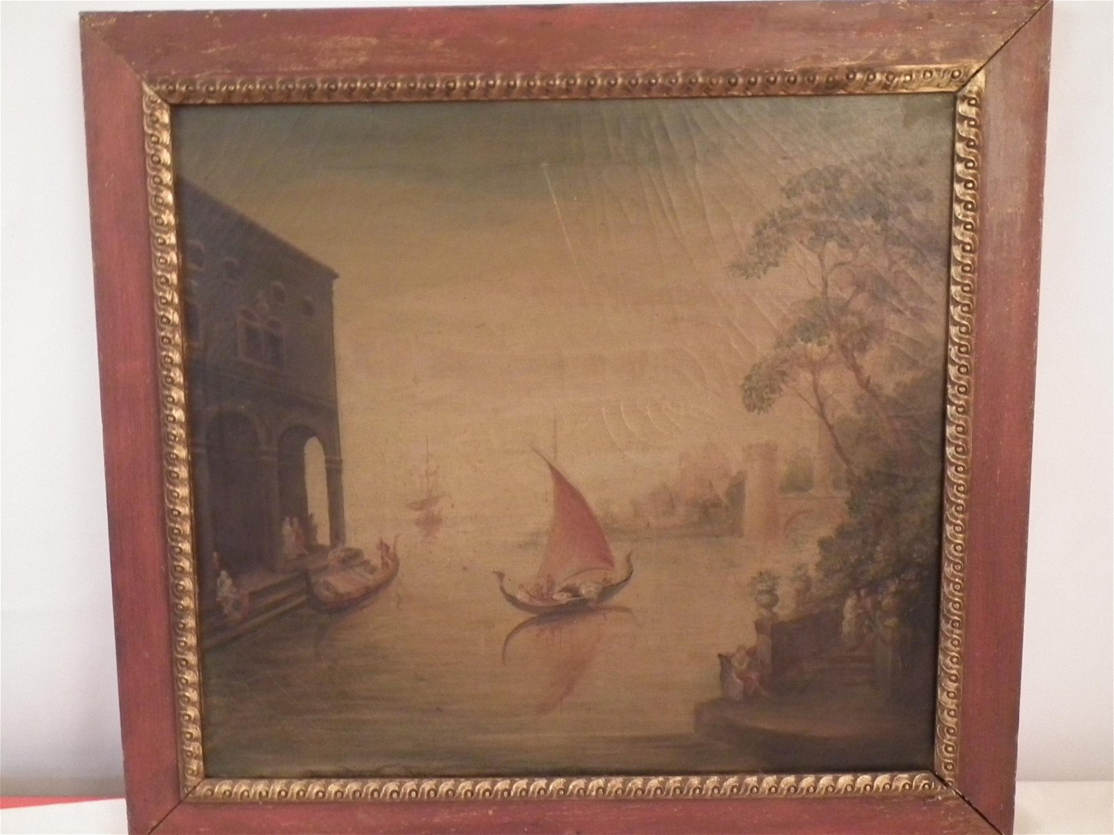 ANTIQUE VENETIAN SCENE PAINTING