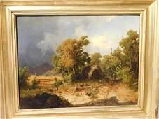 1844 ENGLISH LANDSCAPE PAINTING