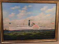 GRAHAM FLIGHT COLUMBIA SHIP PAINTING