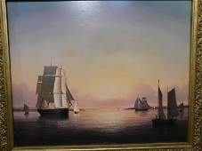 BRIAN COOLE PAINTING GLOUCESTER HARBOR