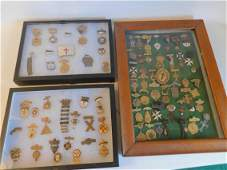 LARGE GROUP ANTIQUE MASONIC MEDALS