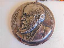 1889 HARRISON PEACE MEDAL NECKLACE