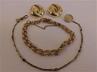 4 PIECES GOLD JEWELRY