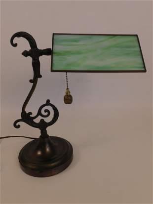 OLD BRASS DESK LAMP
