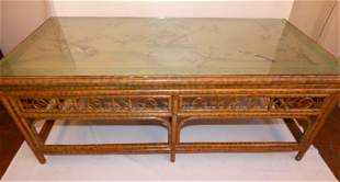 ASIAN BAMBOO PAINTED COFFEE TABLE