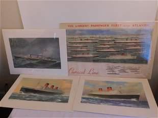 CUNARD LINE SHIP POSTERS
