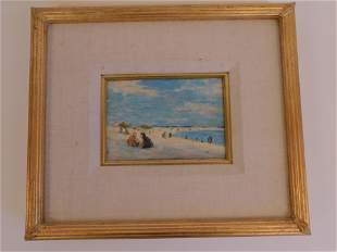 NAUSET BEACH OIL PAINTING SIGNED