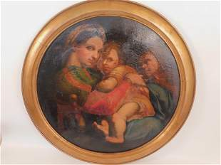 MADONNA PAINTING AFTER RAPHAEL