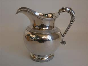 EARLY COIN SILVER EAGLE JUG