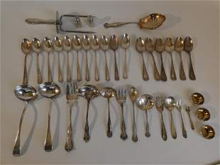 SILVER LOT INCLUDING CARTIER SPOONS