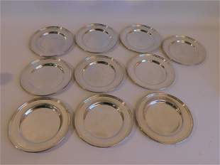 10 STERLING SILVER PLATES