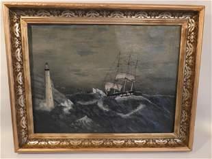 J. COOPER - NY SHIP PAINTING