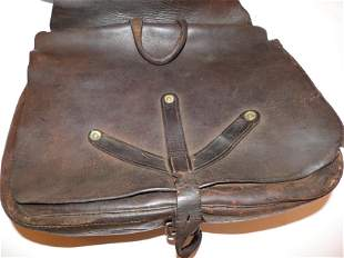 CIVIL WAR CONFEDERATE LEATHER Y SADDLE BAG