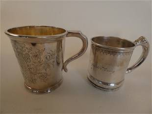 2 ANTIQUE SILVER CUPS