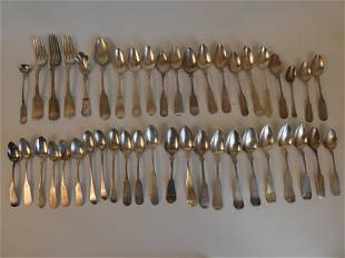 44 COIN SILVER SPOONS