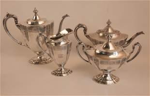 STERLING SILVER 4 PIECE TEA SET