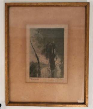 COROT LITHOGRAPH OF NYMPHS