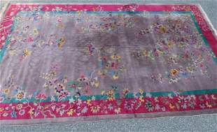 ANTIQUE CHINESE ROOM SIZE CARPET