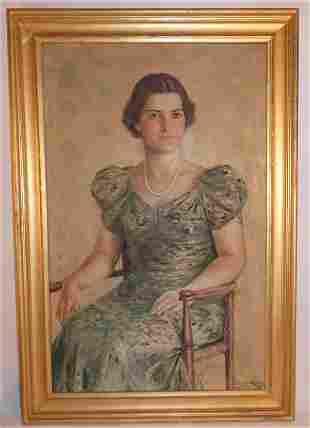 PORTRAIT OF LADY BY W.E. CHAPMAN