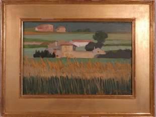 DB SCHWARTZ FRENCH FARMHOUSE PAINTING