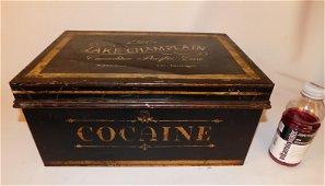 RARE 1900 SHIPS  MEDICAL COCAINE TIN BOX LAKE CHAMPLAIN