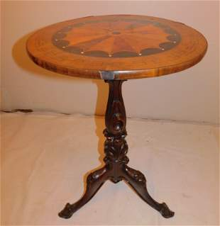 VICTORIAN MARQUETRY INLAID STAND