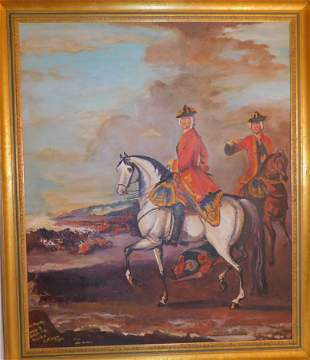 BATTLE PAINTING AFTER WOOTTON
