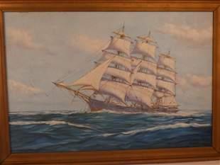 SYLVA FERNANDES SHIP PAINTING