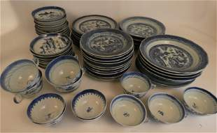 CHINESE CANTON PLATES & CUPS