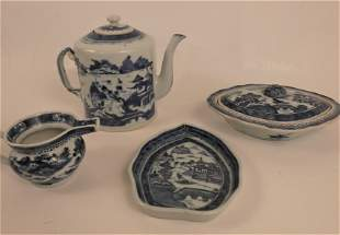 4 PIECES ANTIQUE CHINESE CANTON