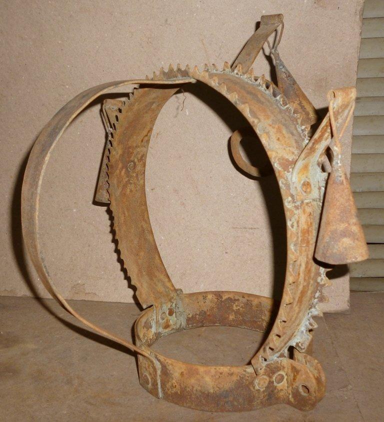BRANK SCOLDS BRIDLE SHAME / HUMILIATION HELMET STEEL - 4