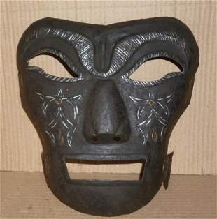 FACE MASK PUNISHMENT ENGRAVED GOLD SILVER PAINT