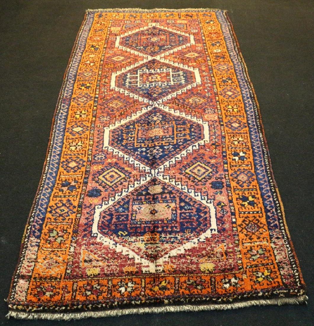 Antique Kurdish Runner Carpet