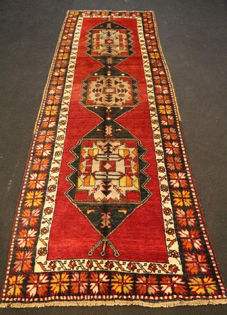 Antique Malatya Runner Carpet