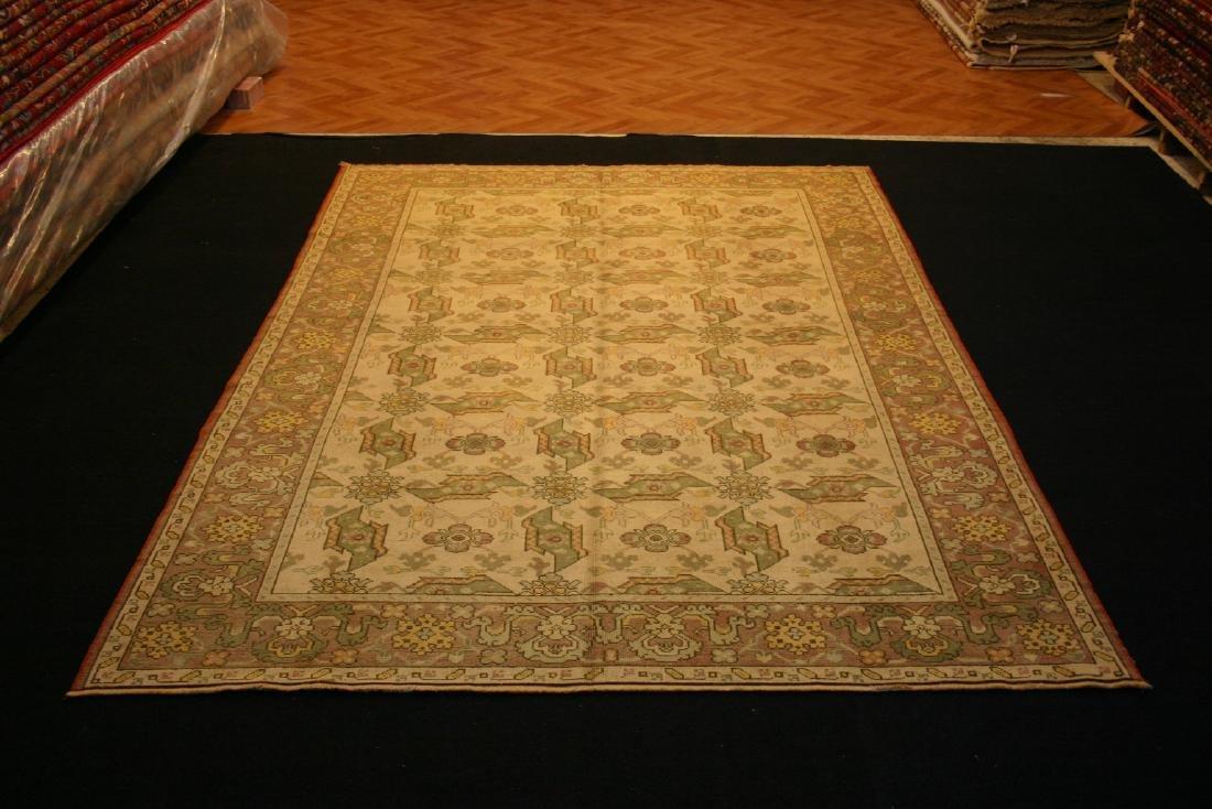 Semi Antique Ushak Bird Design Rug