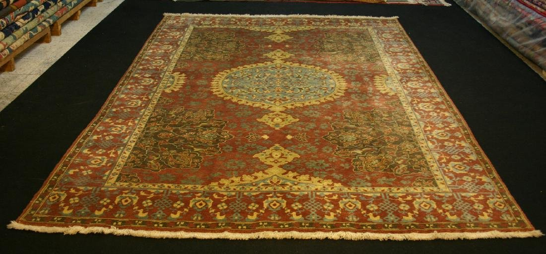 Semi Antique Ushak Custom Design Rug