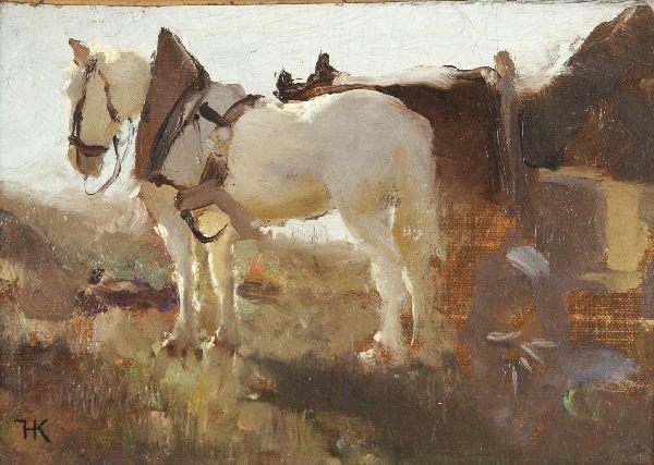 "3: Hugo König ""Horse-drawn vehicle"". Ca. 1880."