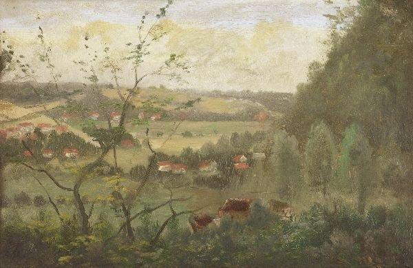 """6: Henry Lewis """"Wide landscape"""". 1880."""