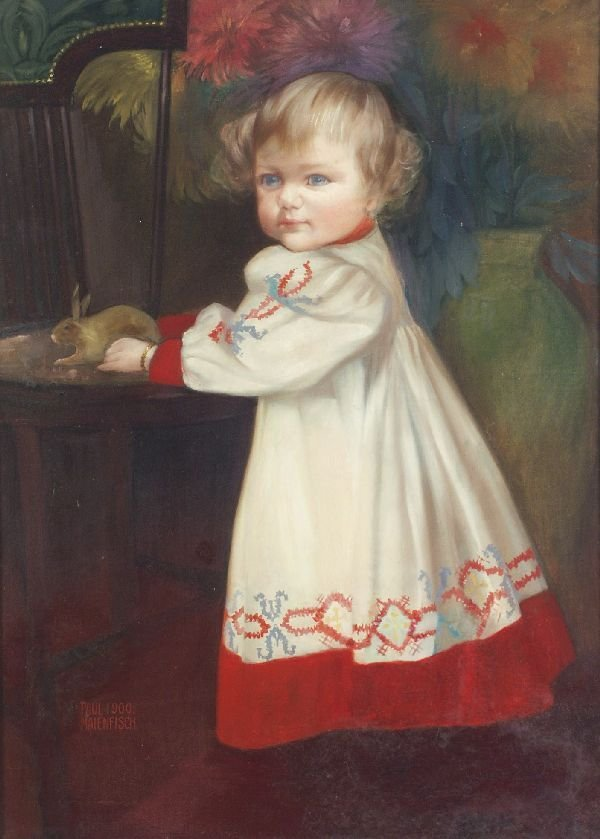 "9: Paul Maienfisch ""Portrait of a child"". 1900."