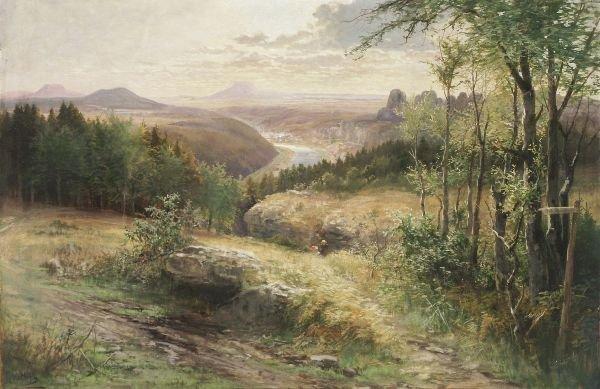 """11: Albert Ernst Mühlig """"Summer afternoon"""". Not dated"""
