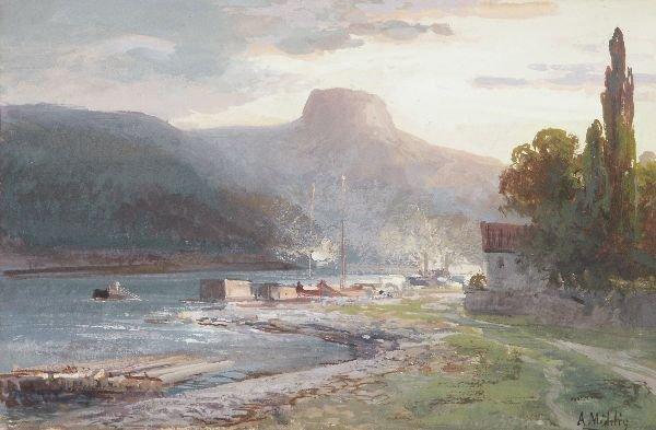 "12: Albert Ernst Mühlig ""Summer evening on the river"