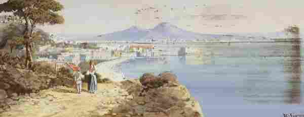 "16: G. Signni (?) ""View of Naples from the tomb of Ve"